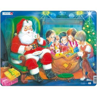 Larsen-JUL14 Puzzle Cadre - Le Père Noël et les Enfants