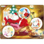 Larsen-JUL2 Puzzle Cadre - Les Rêves du Père Noël
