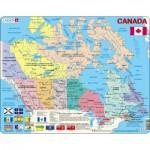 Larsen-K11-V1 Puzzle Cadre - Carte du Canada (en Français et Anglais)
