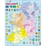Larsen-K15-GB Puzzle Cadre - Carte de l'Irlande (en Anglais)