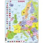 Larsen-K2-GB Puzzle Cadre - Carte de l'Europe en Anglais