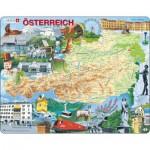Larsen-K20-DE Puzzle Cadre - Carte de l'Autriche (en Autrichien)