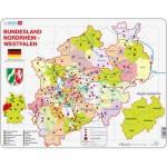 Larsen-K23-DE Puzzle Cadre - Bundesland : Nordrhein-Westfalen (en Allemand)