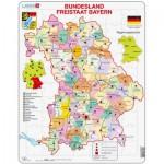Larsen-K24-DE Puzzle Cadre - Bundesland : Freistaat Bayern (en Allemand)