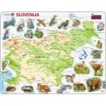 Larsen-K25-SI Puzzle Cadre - Carte de la Slovénie (en Slovène)