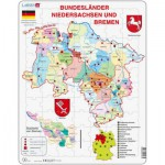 Larsen-K27-DE Puzzle Cadre - Bundesland : Bremen and Niedersachen (en Allemand)
