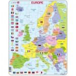 Larsen-K2T-GB Puzzle Cadre - Carte de l'Europe (en Anglais)