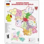 Larsen-K30-DE Puzzle Cadre - Bundesland : Brandenburg und Berlin (en Allemand)