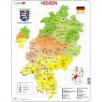 Larsen-K32-DE Puzzle Cadre - Bundesland : Hessen (en Allemand)