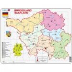 Larsen-K35-DE Puzzle Cadre - Bundesland : Saarland (en Allemand)