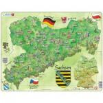 Larsen-K38-DE Puzzle Cadre - Bundesland : Sachsen (en Allemand)