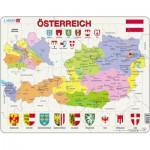 Larsen-K41-DE Puzzle Cadre - Carte de l'Autriche (en Autrichien)