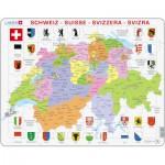 Larsen-K43-CH Puzzle Cadre - Carte de la Suisse