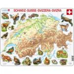 Larsen-K51-CH Puzzle Cadre - Carte de la Suisse