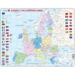Larsen-K63-GB Puzzle Cadre - Carte de l'Europe (en Anglais)
