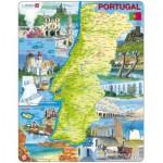 Larsen-K71-PT Puzzle Cadre - Carte du Portugal (en Portugais)