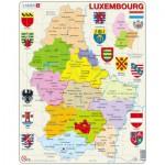 Larsen-K77-V1 Puzzle Cadre - Carte du Luxembourg (en Français)