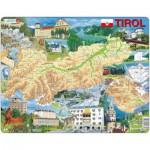 Larsen-K86-DE Puzzle Cadre - Carte du Tirol  (en Autrichien