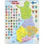 Larsen-K99-FI Puzzle Cadre - Carte de la Finlande (en Finnois)