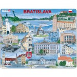 Larsen-KH17-SL Puzzle Cadre - Souvenirs de Bratislava, Slovaquie (en Slovaque)