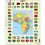 Larsen-KL3-DE Puzzle Cadre - Carte de l'Afrique (en Allemand)