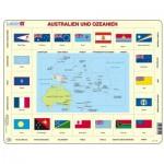 Larsen-KL5-DE Puzzle Cadre - Australie et Océanie (en Allemand)