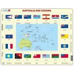 Larsen-KL5-GB Puzzle Cadre - Australie et Océanie (en Anglais)