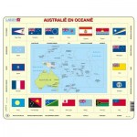 Larsen-KL5-NL Puzzle Cadre - Australie et Océanie (en Hollandais)