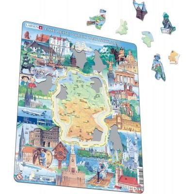 Larsen-KS2-TY Puzzle Cadre - Un Voyage en Allemagne (Allemand)