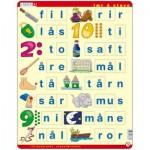 Larsen-LS36 Puzzle Cadre - Lær å lese (små bokstaver) (en Norvégien)