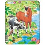 Larsen-M1-2 Puzzle Cadre - La vache et le Poulain