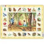 Larsen-NA4-RU Puzzle Cadre - La Forêt (en Russe)