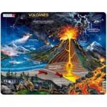 Larsen-NB2-ES Puzzle Cadre - Volcanes (en Espagnol)