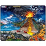 Larsen-NB2-RU Puzzle Cadre - Volcans (en Russe)