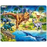Larsen-NB3-RU Puzzle Cadre - Dinosaures (en Russe)