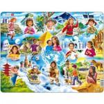 Larsen-NM8 Puzzle Cadre - Enfants du Monde