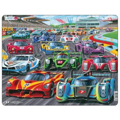 Larsen-PG1 Puzzle Cadre - Racing Cars