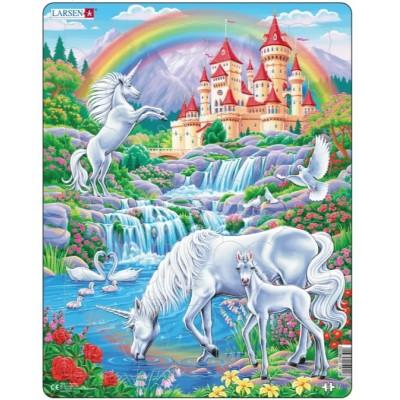Larsen-PG2 Puzzle Cadre - Licornes