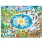 Larsen-SS3-IT Puzzle Cadre - Le stagioni dell'anno (en Italien)