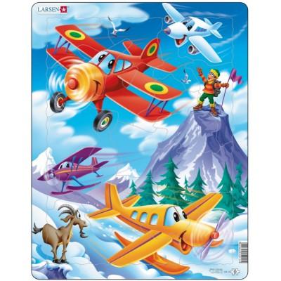 Larsen-US12 Puzzle Cadre - Avions dans la Montagne