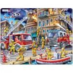 Larsen-US21 Puzzle Cadre - Intervention des Pompiers