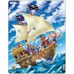 Larsen-US9 Puzzle Cadre - Bâteau de Pirate
