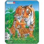 Larsen-V4-2 Puzzle Cadre - Tigres