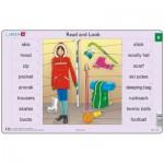 Larsen-xRA4-8 Puzzle Cadre - Apprendre l'Anglais : Read and Look 8 (en Anglais)