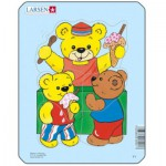 Larsen-Y1-1 Puzzle Cadre - Teddy bears
