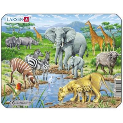 Larsen-Z8-1 Puzzle Cadre - Animaux de la Jungle