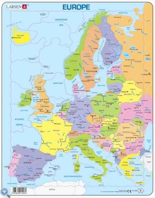 carte europe anglais