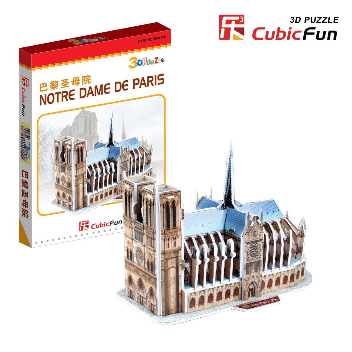 puzzle-3d-serie-mini-france-paris-cathedrale-notre-dame-difficulte-2-8-, 3.36 EUR @ go