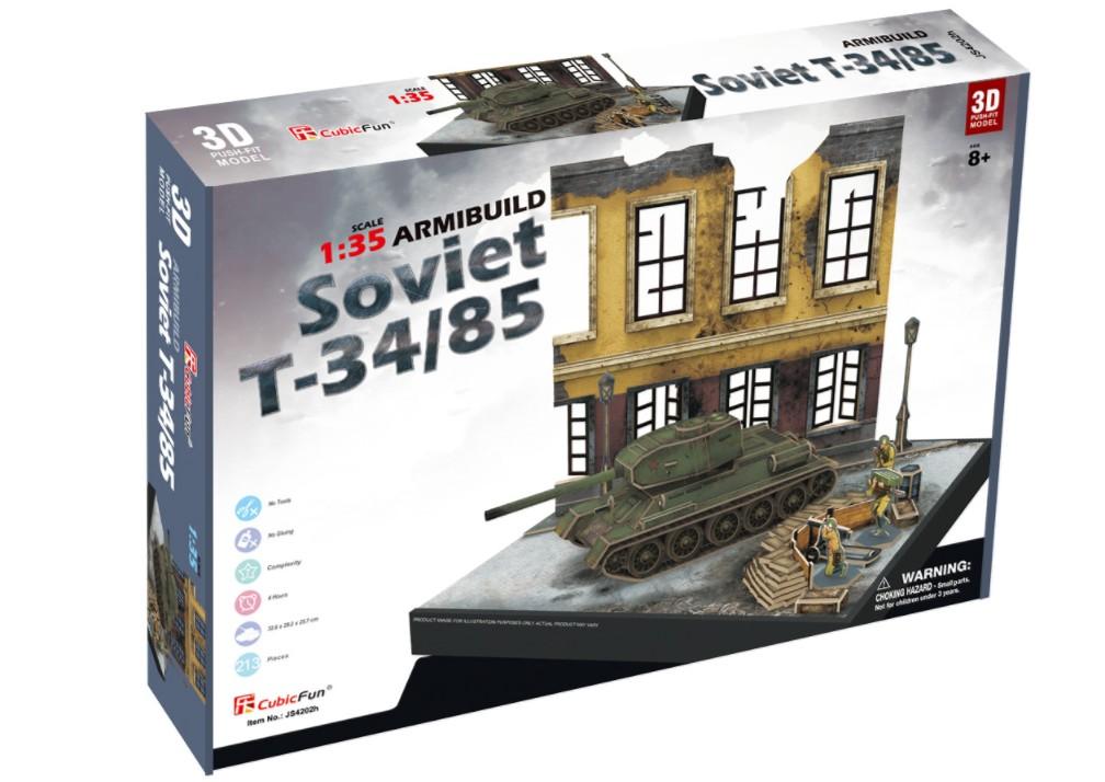 puzzle-3d-soviet-t34-85-difficulte-7-8