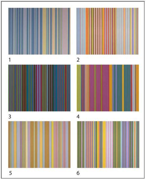 Gene Davis - 12 cubes pour six oeuvres d`art
